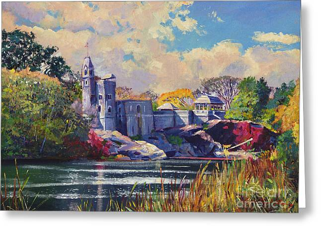 Historic Sites Greeting Cards - Belvedere Castle Central Park Greeting Card by David Lloyd Glover