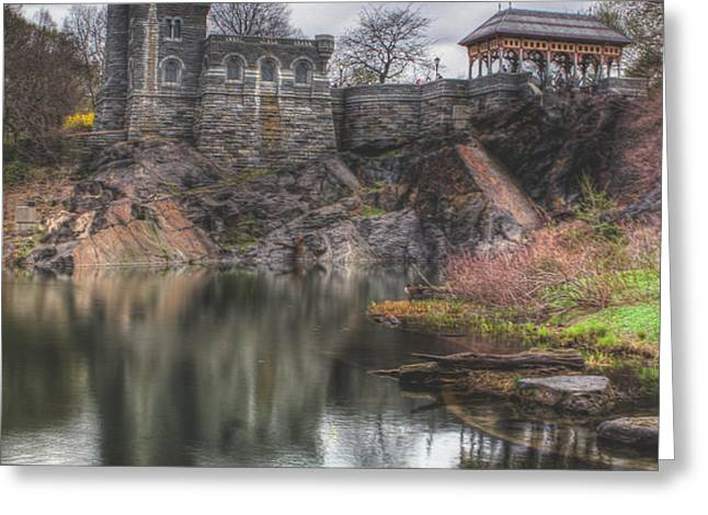 Belvedere Castle Vertical Greeting Card by Ariane Moshayedi