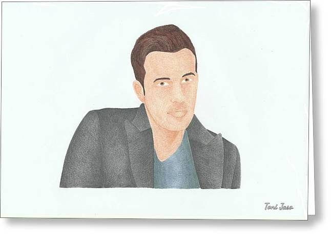 Ben Affleck Greeting Card by Toni Jaso