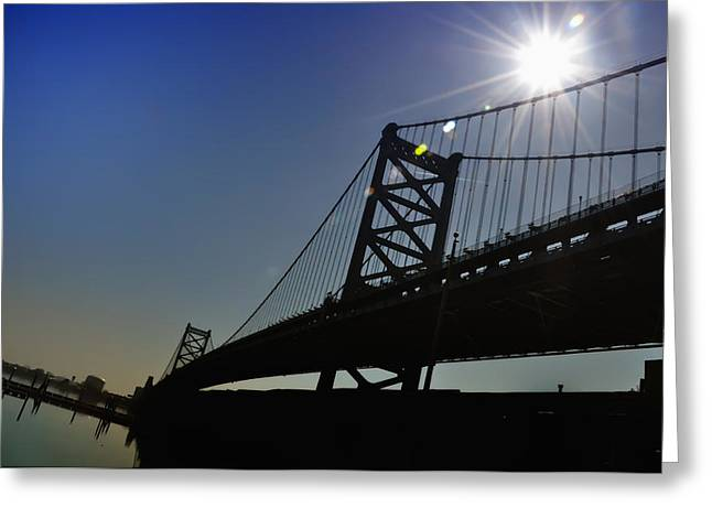 Philadelphia Photographs Greeting Cards - Ben Franklin Bridge 2 Greeting Card by Bill Cannon