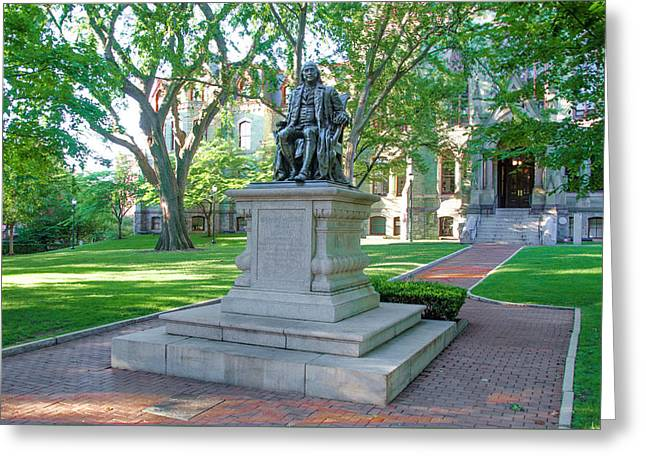 Ben Franklin - Upenn Greeting Card by Bill Cannon