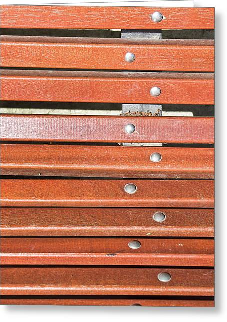 Bench Planks Greeting Card by Tom Gowanlock