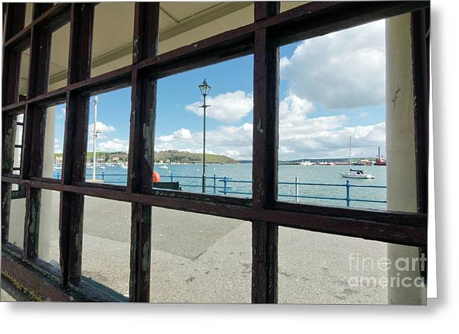 Bench With A View Falmouth Greeting Card by Terri Waters