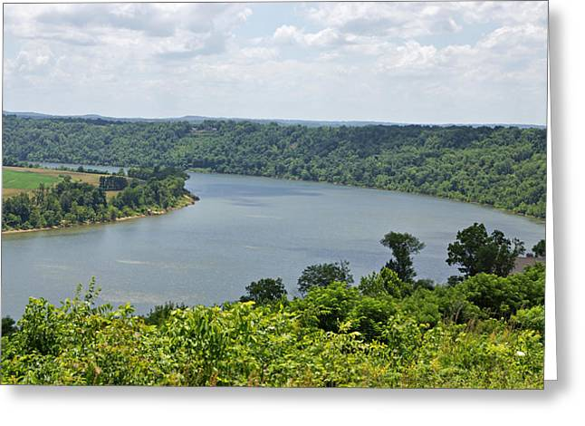 Indiana Rivers Photographs Greeting Cards - Bend in the River Greeting Card by Sandy Keeton