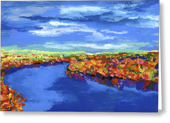 Impressionist Style Greeting Cards - Bend in the River Greeting Card by Stephen Anderson