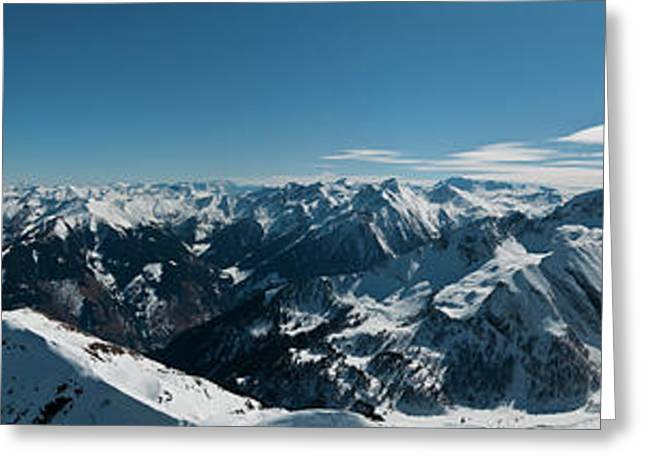 Snow Cornice Greeting Cards - Beneath the cornice Greeting Card by Uta Philipp