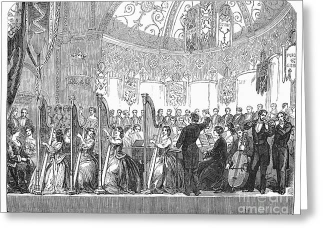 Conducting Greeting Cards - Benefit Concert, 1853 Greeting Card by Granger