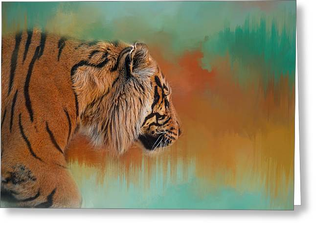 Wildcats Greeting Cards - Bengal Energy Greeting Card by Jai Johnson