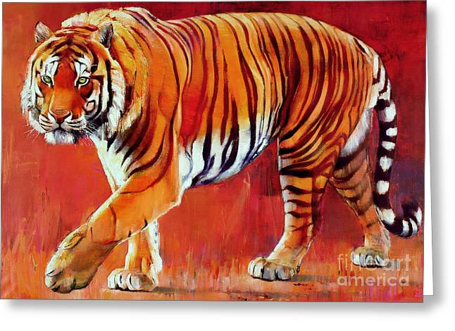 Tiger Greeting Cards - Bengal Tiger  Greeting Card by Mark Adlington