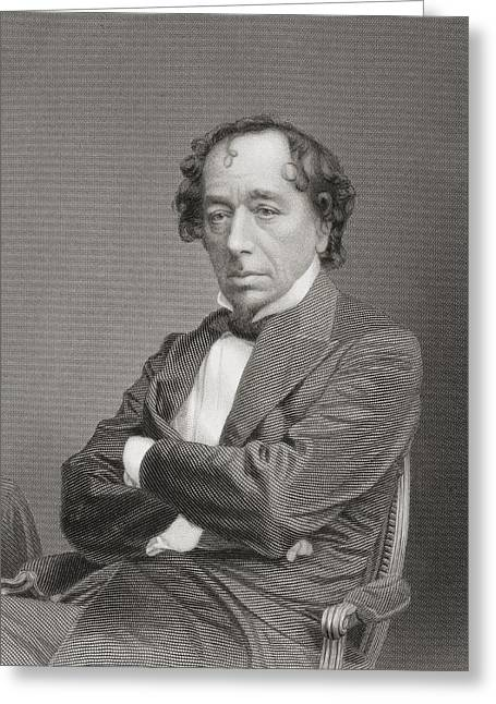 British Prime Minister Greeting Cards - Benjamin Disraeli, 1st Earl Of Greeting Card by Ken Welsh