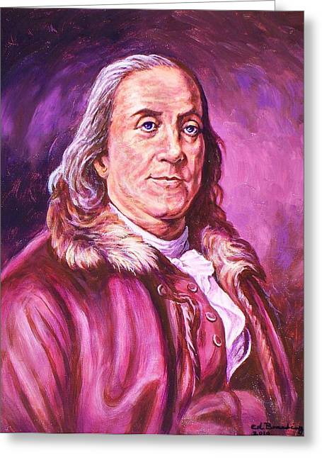 Benjamin Franklin Greeting Card by Ed Breeding