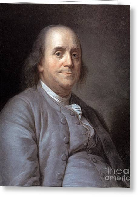 Statesman Greeting Cards - Benjamin Franklin Greeting Card by Granger