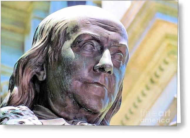 Boston Ma Greeting Cards - Benjamin Franklin II Greeting Card by Elizabeth Dow
