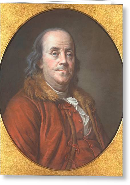 Author Greeting Cards - Benjamin Franklin Greeting Card by Jean Valade