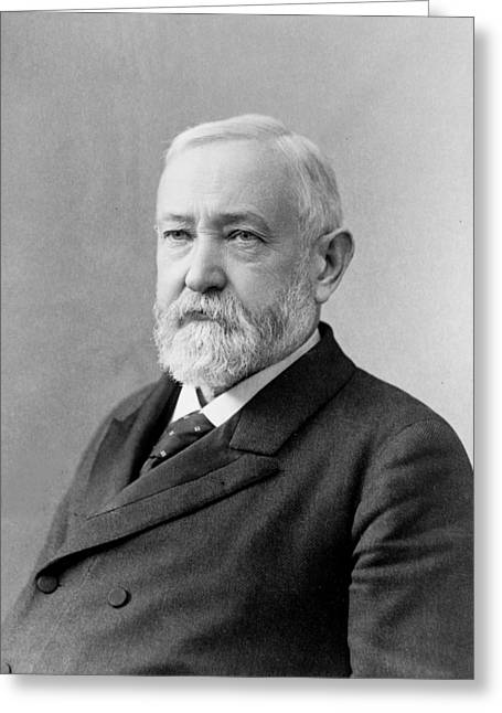 American Politician Greeting Cards - Benjamin Harrison - President of the United States Greeting Card by International  Images