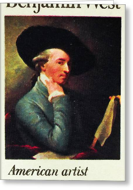 Old West Postcards Greeting Cards - Benjamin West Greeting Card by Lanjee Chee
