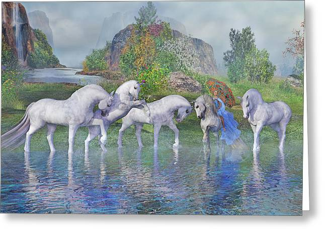 Benjamin's Velveteen Horses Greeting Card by Betsy C Knapp