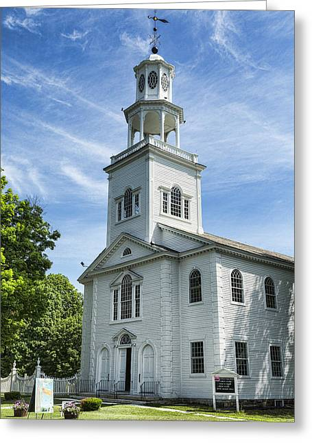 Reverence Photographs Greeting Cards - Bennington First Congregational Church Greeting Card by Stephen Stookey