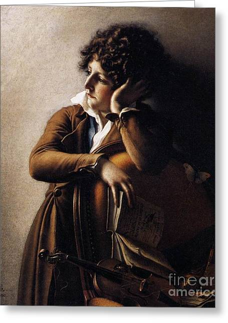 Girodet Greeting Cards - Benoit-Agnes Trioson Greeting Card by MotionAge Designs