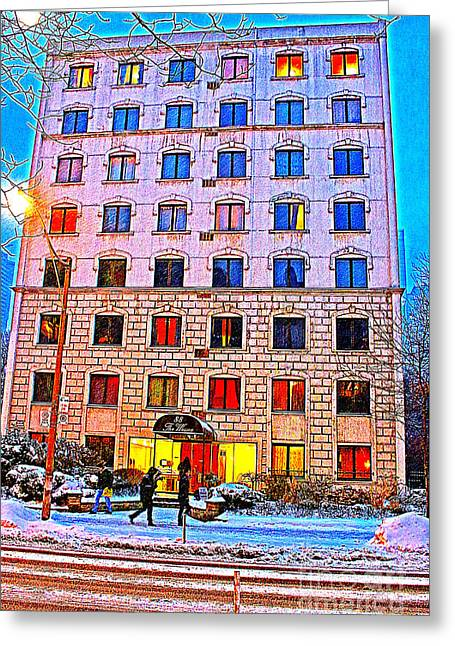 City Lights Greeting Cards - Bens House  Greeting Card by Mike Longley