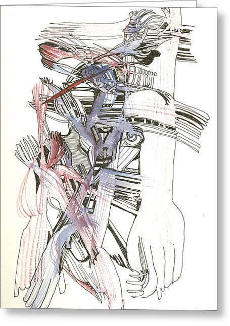 Manchester Orchestra Greeting Cards - Bent Forks in hand Greeting Card by James  Christiansen