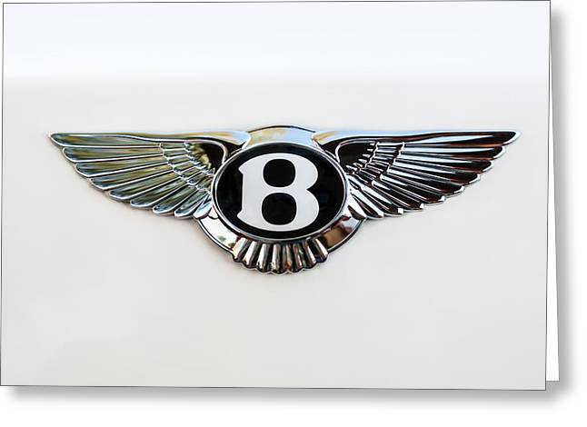 Famous Photographer Greeting Cards - Bentley Emblem -0081c Greeting Card by Jill Reger