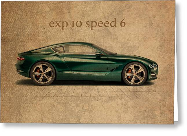 Bentley Exp 10 Speed 6 Vintage Concept Art Greeting Card by Design Turnpike