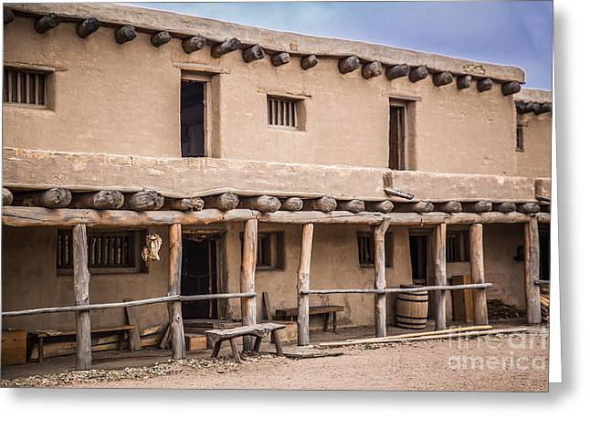 Historic Site Greeting Cards - Bents Old Fort Greeting Card by Lynn Sprowl