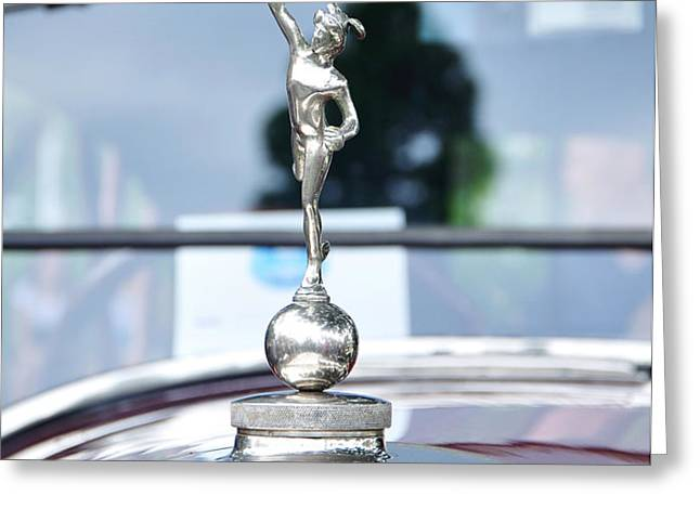 Benz 1916 DS2 - Hood Ornament and Badge Greeting Card by Kaye Menner