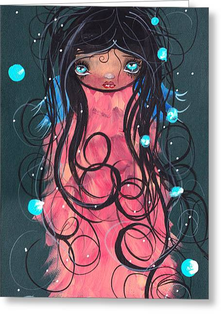 Surreal Pop. Abril Greeting Cards - Berenice  Greeting Card by  Abril Andrade Griffith