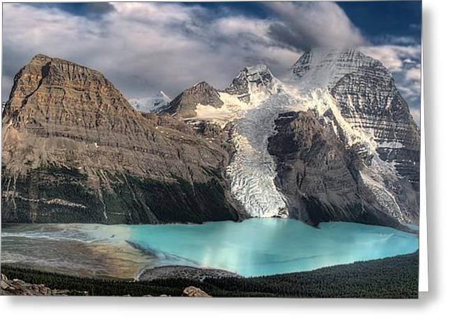 Berg Lake, Mount Robson Provincial Park Greeting Card by Clarke Wiebe