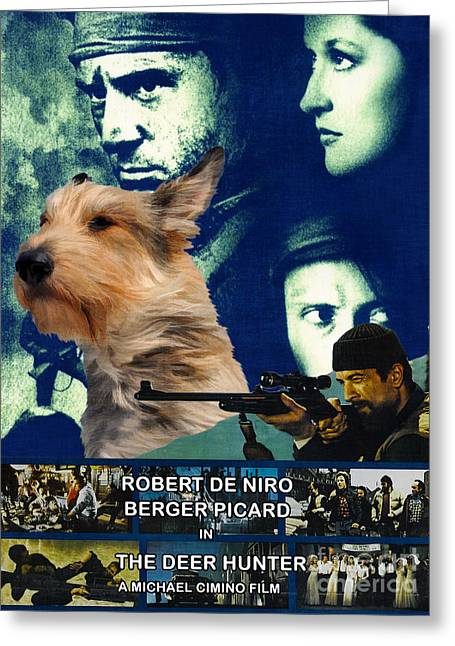 Berger Picard - Picardy Shepherd Art Canvas Print - The Deer Hunter Movie Poster Greeting Card by Sandra Sij