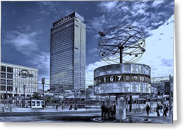 Alexanderplatz Greeting Cards - Berlin Alexanderplatz Greeting Card by Joachim G Pinkawa
