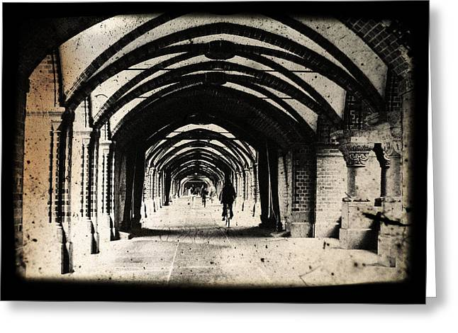 Altering Greeting Cards - Berlin Arches Greeting Card by Andrew Paranavitana