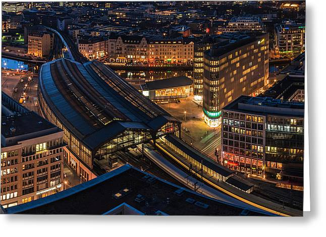 Berlin Pyrography Greeting Cards - Berlin - Bahnhof Friedrichstrasse Greeting Card by Jean Claude Castor