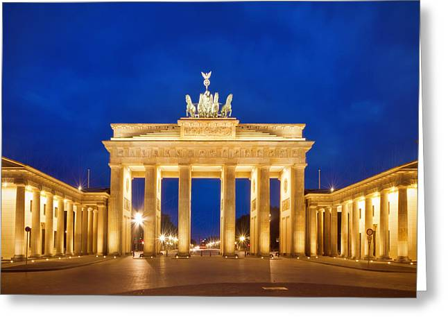 Tor Greeting Cards - BERLIN Brandenburg Gate Greeting Card by Melanie Viola