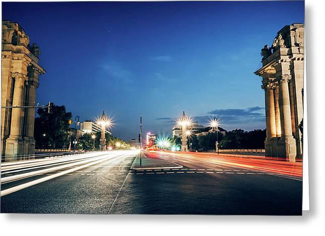 Berlin - Charlottenburg Gate Greeting Card by Alexander Voss
