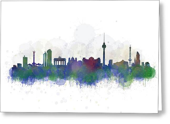 Haus Digital Greeting Cards - Berlin City Skyline HQ 2 Greeting Card by HQ Photo