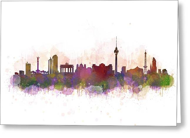 Haus Digital Greeting Cards - Berlin City Skyline HQ 3 Greeting Card by HQ Photo