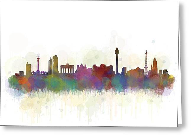 Haus Digital Greeting Cards - Berlin City Skyline HQ 5 Greeting Card by HQ Photo