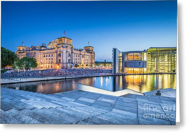 Lobe Greeting Cards - Berlin Government District Greeting Card by JR Photography