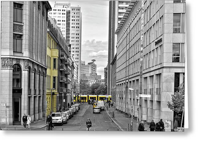 Berlin Impressions Iv Greeting Card by Joachim G Pinkawa