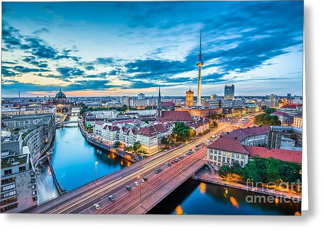 Famous Bridge Greeting Cards - Berlin Greeting Card by JR Photography