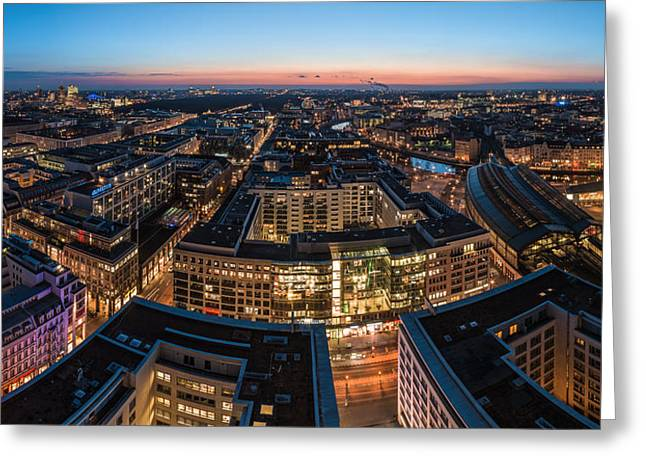 Westen Greeting Cards - Berlin - Skyline City West #1 Greeting Card by Jean Claude Castor