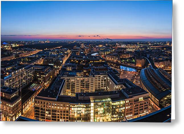 Westen Greeting Cards - Berlin - Skyline City West #3 Greeting Card by Jean Claude Castor