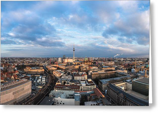 Osten Greeting Cards - Berlin - Skyline Panorama #1 Greeting Card by Jean Claude Castor