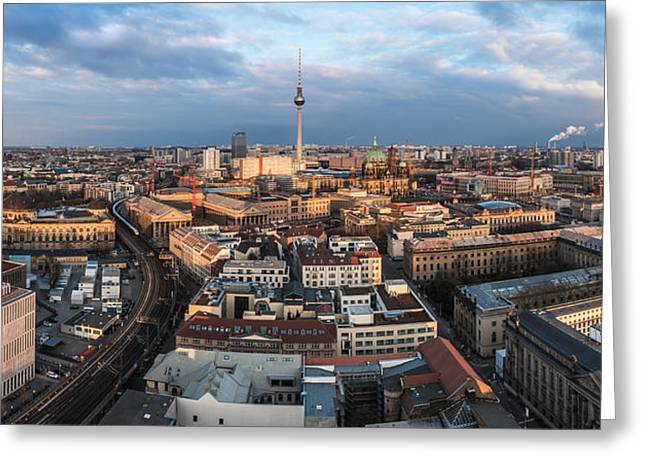 Osten Greeting Cards - Berlin - Skyline Panorama #2 Greeting Card by Jean Claude Castor