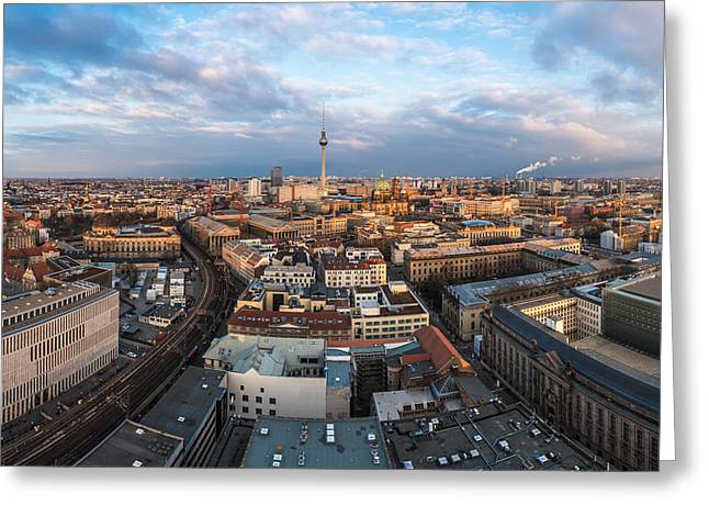 Osten Greeting Cards - Berlin - Skyline Panorama #3 Greeting Card by Jean Claude Castor