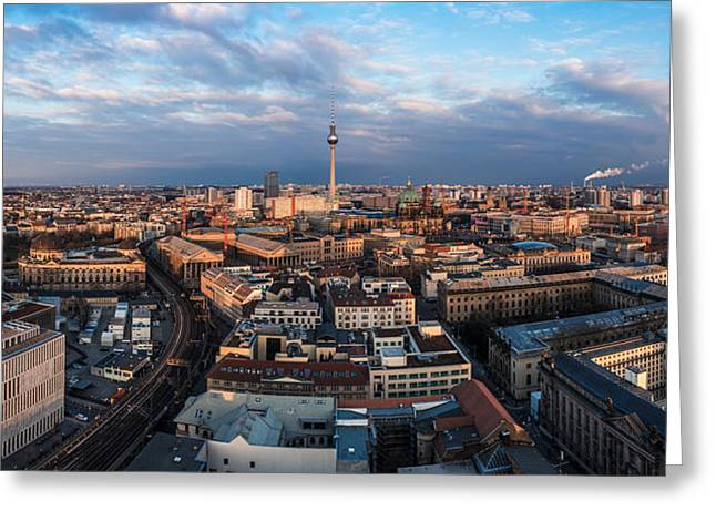 Osten Greeting Cards - Berlin - Skyline Panorama #5 Greeting Card by Jean Claude Castor