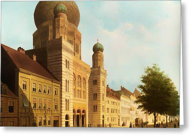 Berlin Synagogue On Oranienburger Street Greeting Card by Mountain Dreams